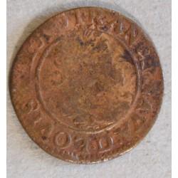ROYALE - LYON,  Double tournois Louis XIII 1631 D