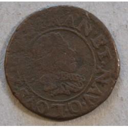ROYALE - RIOM,  Double tournois Louis XIII 1625 O