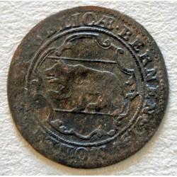 SUISSE - 2 KREUZER , 1/2 BATZEN BERN 1721