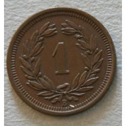 Suisse -  1 rappen 1890