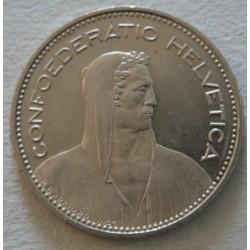 Suisse -  5 francs 1994 frappe médaille
