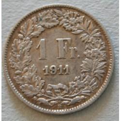 Suisse -  1 franc 1911