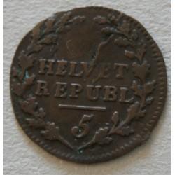 Suisse -  République Helvetique 1/2 Batzen 1799