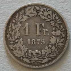 Suisse -  1 franc 1875