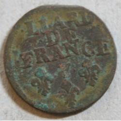 Louis XIV - Liard de France 1699 Y Bourges R3