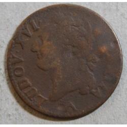 Louis XVI - 1/2 sol 1781 W Lille legère