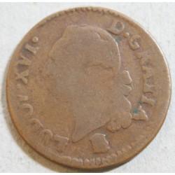 Louis XVI - liard 1791 B Rouen