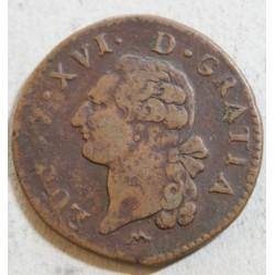 Louis XVI - Sol à l' écu 1784 N Montpellier