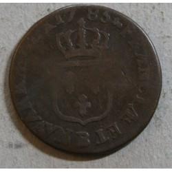 Louis XVI - 1/2 sol 1785 B Rouen