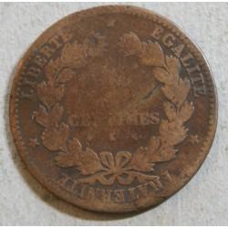 CERES - 5 centimes 1877 k cote 30euros en TB
