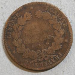 CERES - 5 centimes 1876 k cote 20 euros en TB