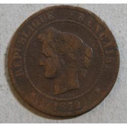 CERES - 5 centimes 1872 k cote 30euros en TB