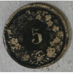 Suisse -  5 rappen 1874 B