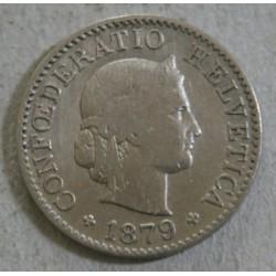 Suisse -  5 rappen 1879 B