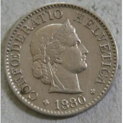Suisse -  5 rappen 1880 B Superbe