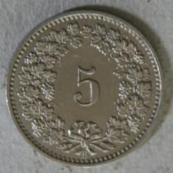 Suisse -  5 rappen 1882 B TTB+