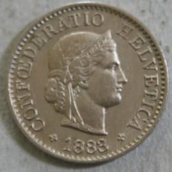 Suisse -  5 rappen 1883 B TTB+