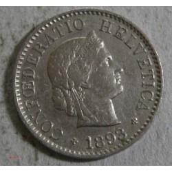 Suisse -  5 rappen 1893