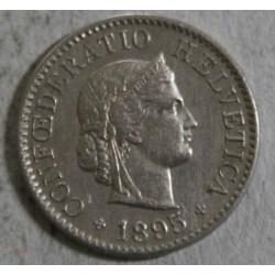 Suisse - 5 rappen 1895 ttb+