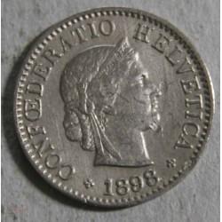 Suisse -  5 rappen 1898