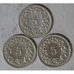 Suisse -  5 rappen 1900-1901-1905 (2)
