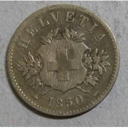 Suisse -   20 rappen 1850 bb