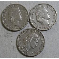 Suisse - 20 rappen 1885 sup -1883-1884