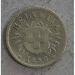 Suisse - 5 rappen 1850 BB