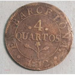 ESPAGNE Barcelone - 4 Quartos 1812 José Napoléon