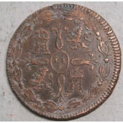 ESPAGNE Fernand VII, 8 maravédis 1820 JUBIA
