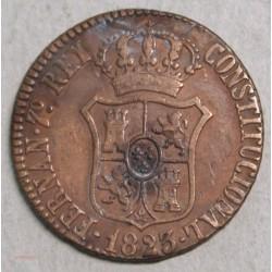 ESPAGNE Barcelone Fernand VII, 1824 3 quartos
