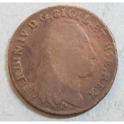 ITALIE - SICILE 8 TORNESI 1796, FERDINAN IV. TB+