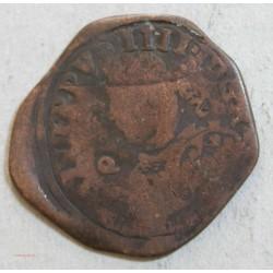ESPAGNE PHILIPPE IIII cuivre 34mm 9.6grs