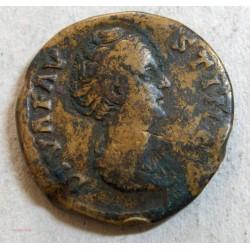 ROMAINE - Sesterce Faustine mère /revers junon, 147 ap. JC