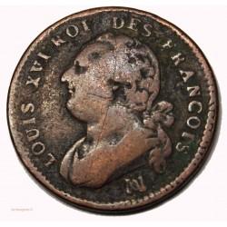 CONSTITUTION - 12 deniers 1792 Marseille cote 120€