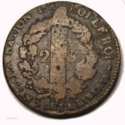 CONSTITUTION - 2 sols 1793 AA Metz