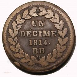 BLOCUS DE STRASBOURG- décime 1814 BB