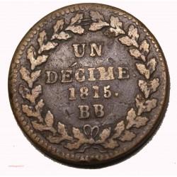 BLOCUS DE STRASBOURG- décime 1815 BB