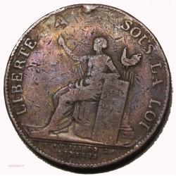 monneron de 2 sols a la liberté 1791