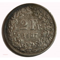 Suisse - 2 francs 1907