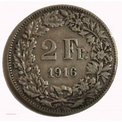 Suisse -  2 francs 1916 argent/silver