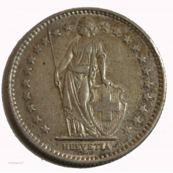 Suisse -  2 francs 1913 argent/silver