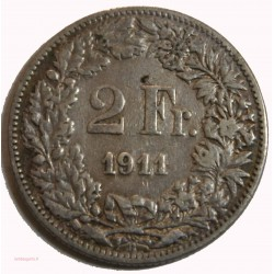 Suisse -  2 francs 1911 argent/silver