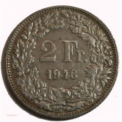 Suisse - 2 francs 1946 argent/silver