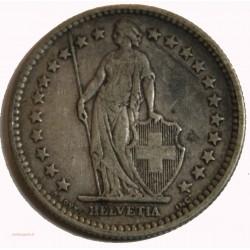 Suisse -  2 francs 1904 argent/silver
