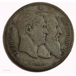 Belgique 2 Francs 1830-1880 Léopold I & Léopold II Argent
