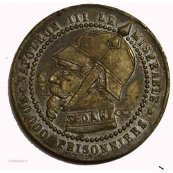 Guerre de 1870 satirique de Sedan, module 5 centimes - chouette