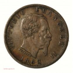 ITALIE - 20 centesimi 1863 M Vittorio Emanuel II