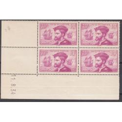 COIN DATE TIMBRE N°296 JACQUES CARTIER 1934 NEUFS** COTE 550 Euros L'art des gents