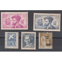 TIMBRES ANNEE COMPLETE 1934 N°294 à N°298 NEUFS** COTE 430 Euros L'art des Gents
